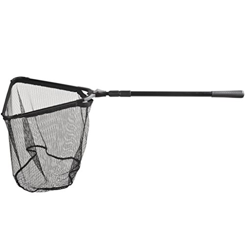 Fiblink Folding Aluminum Fishing Landing Net Fish Net with Extending Telescoping Pole Handle (45-80 inches) -