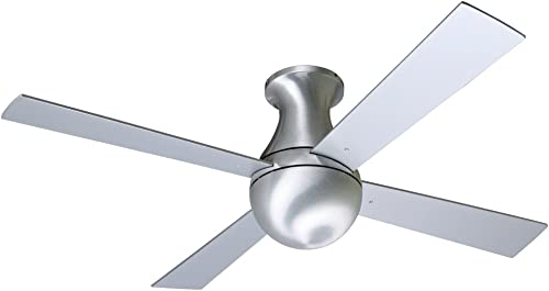 42″ Modern Fan Aluminum Finish Ball Hugger Ceiling Fan