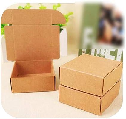 Bolsa de regalo de 4 x 4 x 2,5 cm, pequeña caja de embalaje de estraza, pequeña caja para joyas de Kraft de 80 x 80 x 40 mm: Amazon.es: Salud y cuidado personal
