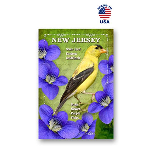 - NEW JERSEY BIRD AND FLOWER postcard set of 20 identical postcards. NJ state symbols post cards. Made in USA.