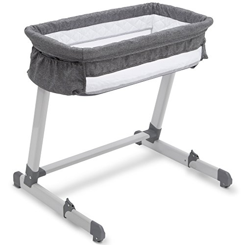 Beautyrest Deluxe By the Bed Bassinet, Grey Tweed