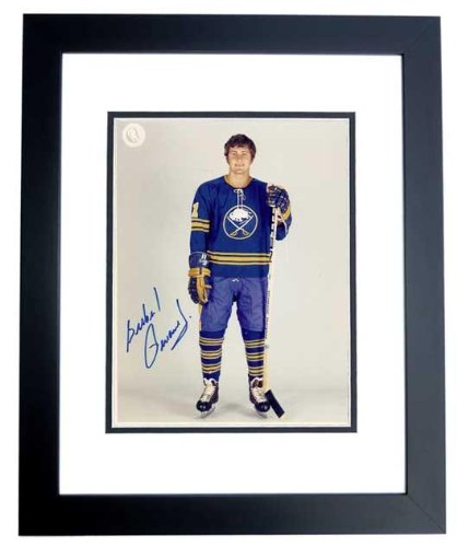 Gil Perreault Signed - Autographed Buffalo Sabres 8x10 inch Photo BLACK CUSTOM FRAME - Guaranteed to pass or JSA - Hall of Famer - PSA/DNA Certified (Signed Nhl Buffalo Photo Sabres)