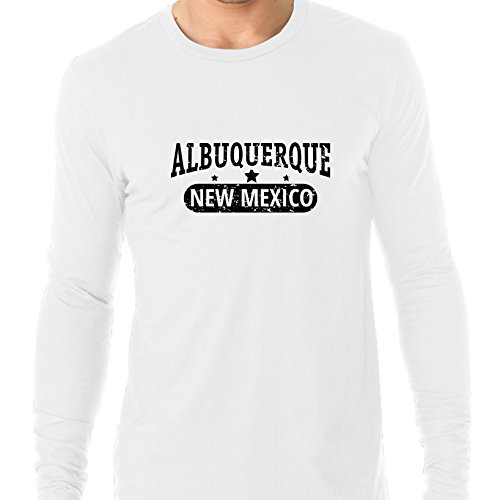Trendy Albuquerque, New Mexico With Stars Men's Long Sleeve T-Shirt]()