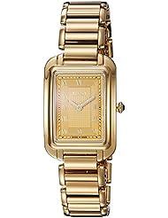 Fendi Womens F701435000 Classico Analog Display Analog Quartz Gold Watch