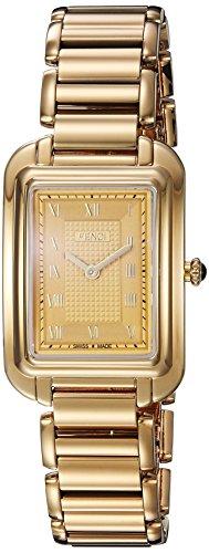 Fendi-Womens-F701435000-Classico-Analog-Display-Analog-Quartz-Gold-Watch