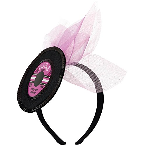 Amscan Nifty 50's Theme Party Record Headband Accessory, Free (Nifty Fifties Costumes Child Costumes)