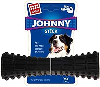 Gigwi Johnny Stick Durable Dog Chewing Toy, Black