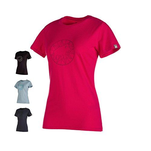 同等のウェブ継承マムート Mammut Logo T-Shirt Women マムート ロゴ Tシャツ ウーマン 3418/magenta 1041-06541