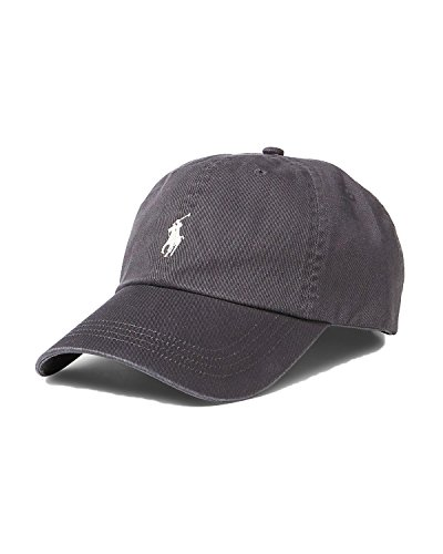 - Polo Ralph Lauren Men`s Classic Twill Signature Pony Sports Adjustable Cap (Vintage Gray (3015), One Size)