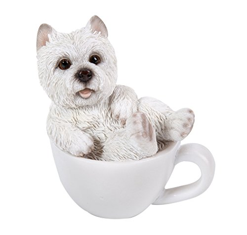 West Highland Terrier Westie Adorable Mini Teacup Pet Pals Puppy Collectible Figurine 3.25 - Ornament Christmas Teacup Terrier