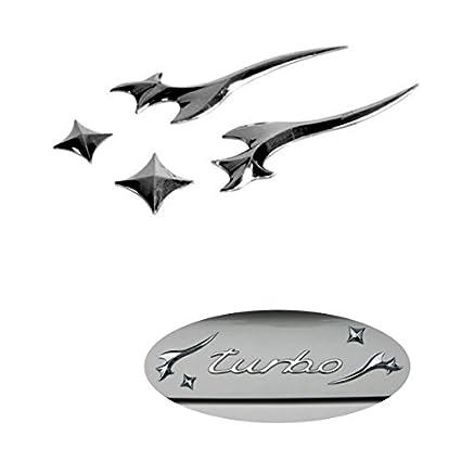 3D07223 - Emblema cromado 3D etiqueta insignia logotipo decorativo coche (3M autoadhesivo)