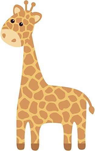 Cute Nursery Kindergarten Giraffe Cartoon Vinyl Decal Sticker (12' Tall) 12' Giraffe