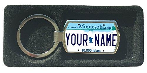 BleuReign(TM) Personalized Custom Name Minnesota State License Plate Metal Keychain