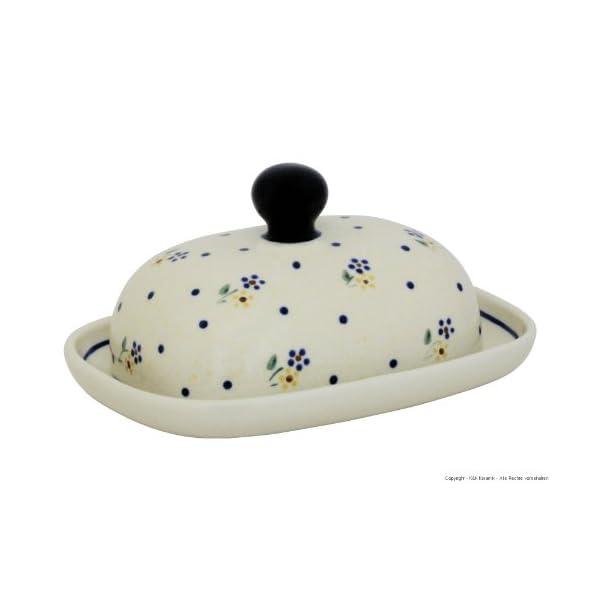 Bunzlauer Keramik Modèle 111 Beurrier ovale pour 1/2 beurre (125 g)