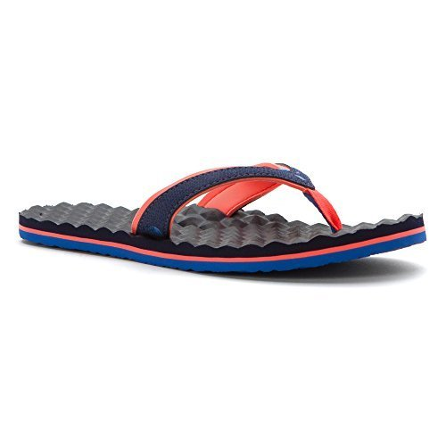 The North Face Base Camp Plus Mini Flip-Flop Women's Patriot Blue/Tropical Coral 6 - North Face Mini Base