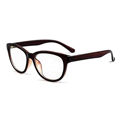 BXT Unisex Womens Mens Full Rim Round Clear Lens Plain Glasses Eyeglasses UV Radiation Protection,Anti Blue Ray, Anti-reflective, Anti-glare Computer Reading Gaming Glasses Eyewear - Full Glasses Rim