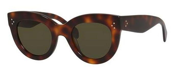 4232a8a41e73a Celine 41050 s 05L Havana Caty Cats Eyes Sunglasses Lens Category 3 Size  49mm  Amazon.co.uk  Clothing