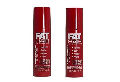 Samy Fat Hair '0' Calories Amplifying Creme, 5.25 Ounce Bottles (Set of 2)