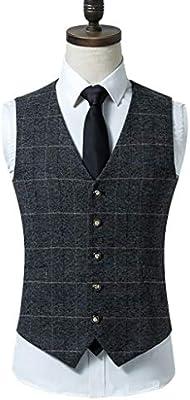 Vest Elegante Traje de Chaleco para Hombre, Chaleco Estilo escocés ...