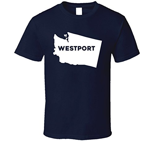 Westport Washington Custom City Patriotic USA Map T Shirt S - Usa Westport