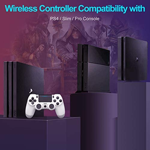 PS4 Wireless Controller for Playstation 4 DualShock 4/Pro/Slim Console with Headset Jack/Dual Vibration/Speaker/Touch Pad/Six-axis Motion Control