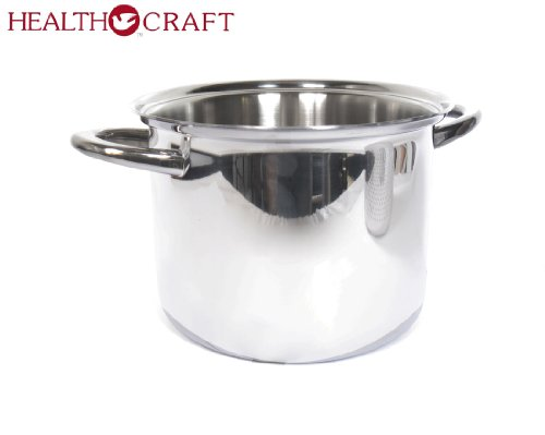 Health Craft Stainless Steel 6.5 Qt Deep Stockpot W/6 Qt Spaghetti Cooker Insert by Health Craft True Induction (Image #2)