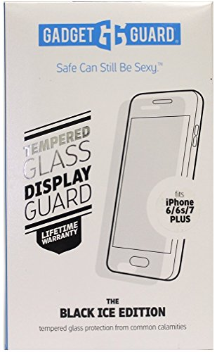 (Gadget Guard The Black Ice Edition Tempered Glass Screen Protector for iPhone [6s Plus][7 Plus] [8 Plus])