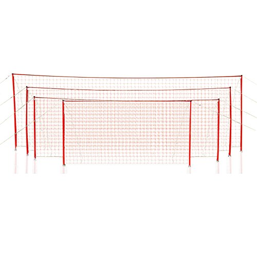 Soccer Innovations Portable 8x24 J-Goal with Attached Net w/Free Carrying Bag