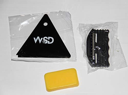 ski Snowboard Edge Tuner Sharpener Edge Beveler Side with Wax Scraper Plus Universal Temp ski Snowboard Wax bar