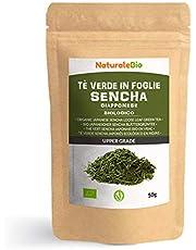 Biologische Japanse Groene Sencha Thee 50 gram. 100% Bio, Natuurlijke en Zuivere Groene Thee van de Eerste Pluk, Geteeld in Japan. Organic Japanese Sencha Green Tea. NaturaleBio