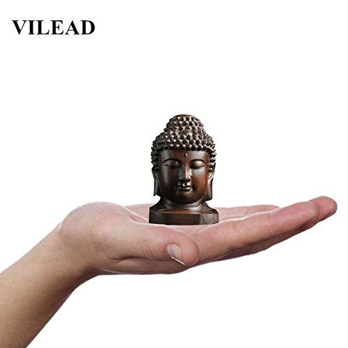 (Office Decoration Statues & Sculptures - 2.36'' Wood Sakyamuni Statue 6cm Wooden Buddha Statue Creative Tathagata Figurines Mahogany India Buddha Head Crafts 1 PCs)