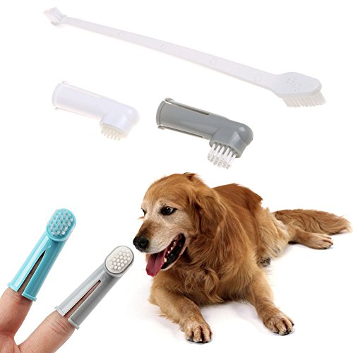 Bath Unlimited Soap Dish (JD Million shop 3Pcs/set Pet Finger Toothbrush Dog Brush Breath Double Head Teeth Care Dog Cat Cleaning Toothbrushes For Dogs Pet Supplies)