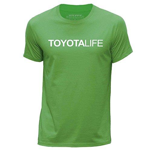 STUFF4 Men's Large (L) Green Round Neck T-Shirt/Car Life / Love Toyota