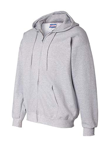 Hanes Men's Full Zip Ultimate Heavyweight Fleece Hoodie, Light Steel, Medium