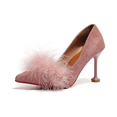 tallone shallowly assottigliata sottile scamosciata pelle calzatura nine Singola pura punta Thirty Donyyyy xqCRg8wx