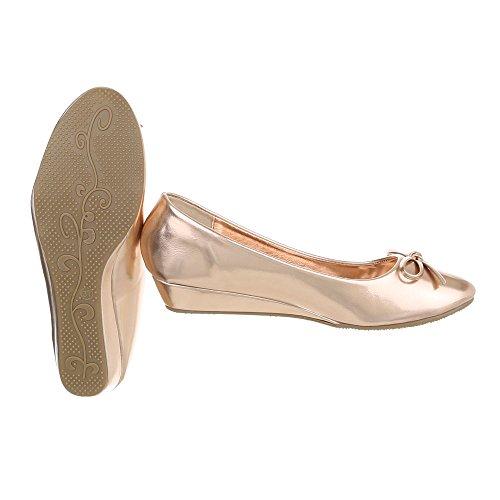 Ital Donna plateau con Gold Scarpe 6267 P Rosa Design rwgqxrvC