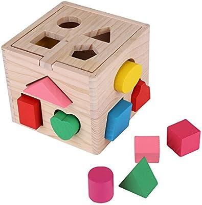 Zerodis - Caja de 13 Agujeros para ordenar Juguetes educativos ...
