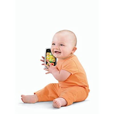 Fisher-Price Laugh & Learn Smilin' Smart Phone, Black: Toys & Games