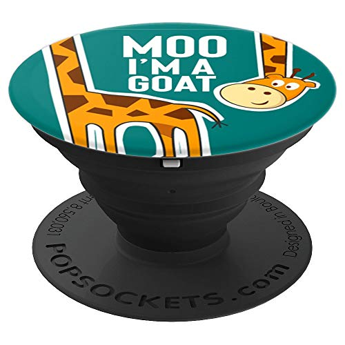 Goofy Giraffe - Goofy, Giraffe Moo I'm a Goat, Weird, Cow, Funny - PopSockets Grip and Stand for Phones and Tablets