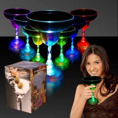 Led Light Up Flashing Margarita Glasses in US - 1