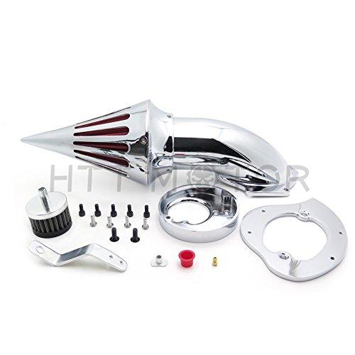 SMT MOTO- Motorcycle Spike Air Cleaner Intake Filter Kit For Honda Vtx1300 Vtx 1300 1986-2012 Chrome (Vtx 1300 Air Cleaner)