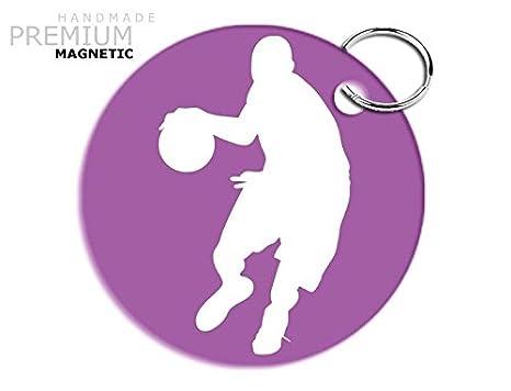 Llavero de pelota de baloncesto JCM carcasa cierre magnético ...