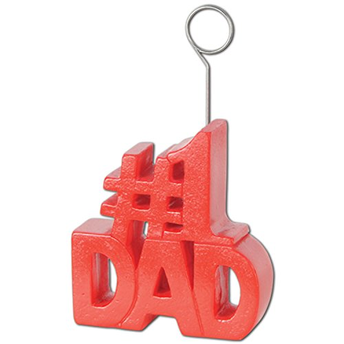 #1 Dad Photo/Balloon Holder Party Accessory (1 count)