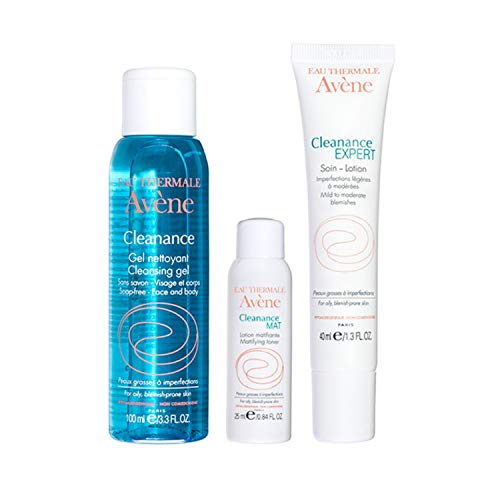 Eau Thermale Avene Cleanance Solutions: Blemish Control Regimen Kit for Acne Prone, Oily, Sensitive Skin
