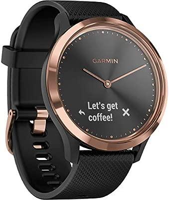 Amazon.com: Garmin vivomove HR Sport Watch Rose Gold Black ...