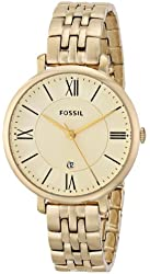 Fossil Women's ES3434 Jacqueline Gold-Tone Stainless Steel Watch