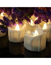 Christmas Candle Tea Lights, Christmas Tree Decorative candlesticks, LED Battery-Powered flameless Tea Lights (12 Packs), Wedding, Christmas and Holiday Creative Decoration.