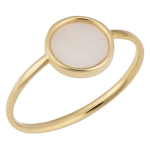 (Kooljewelry 14k Yellow Gold Mother of Pearl Ring (Size 8))