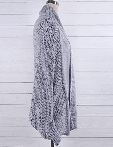 Chauve tricot Dames Manches Veste Loisirs de Souris lache Cardigan B8n6qAx