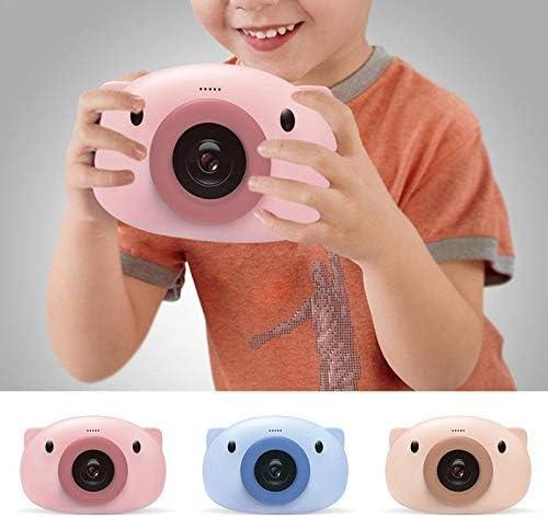 N / A Kinder Kamera Elektronisches Spielzeug-Kind-Karikatur-Schwein-Form Educational Kamera Spielzeug 3K WiFi Kamera Junge Und Mädchen Geburtstagsgeschenk (Color : Blue) Pink